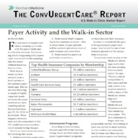 ConvUrgentCare® Market Report -With over 5,000 Subscribers Across Health Systems and Private Equity - Since 2007, each issue of the ConvUrgentCare® Report includes a feature article from the world of consumer-driven, on-demand medicine. Contact us to begin receiving this report.Back issues of the ConvUrgentCare® Report are also available for download.