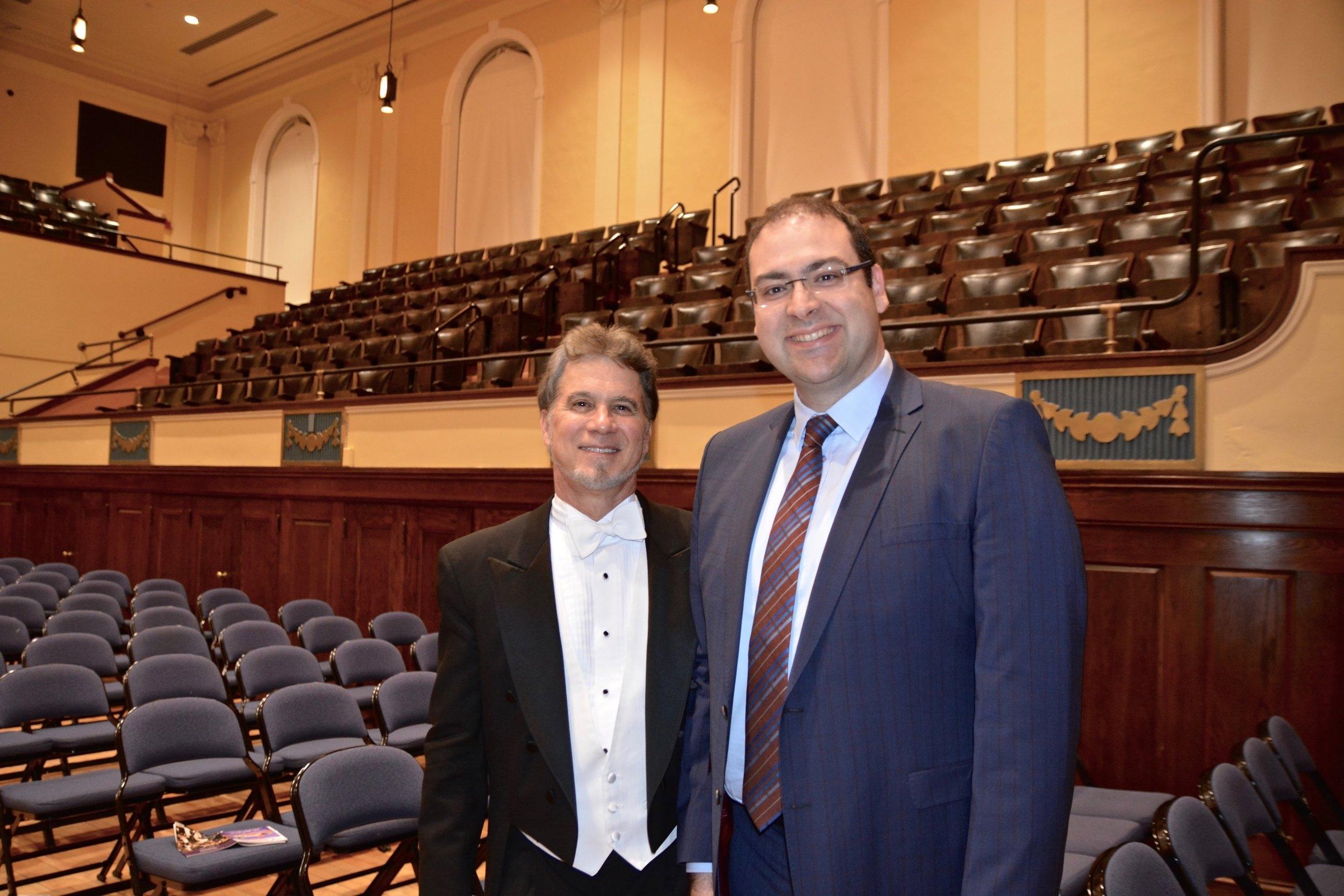 Conductor Jonathan McPhee and Composer Baris Perker