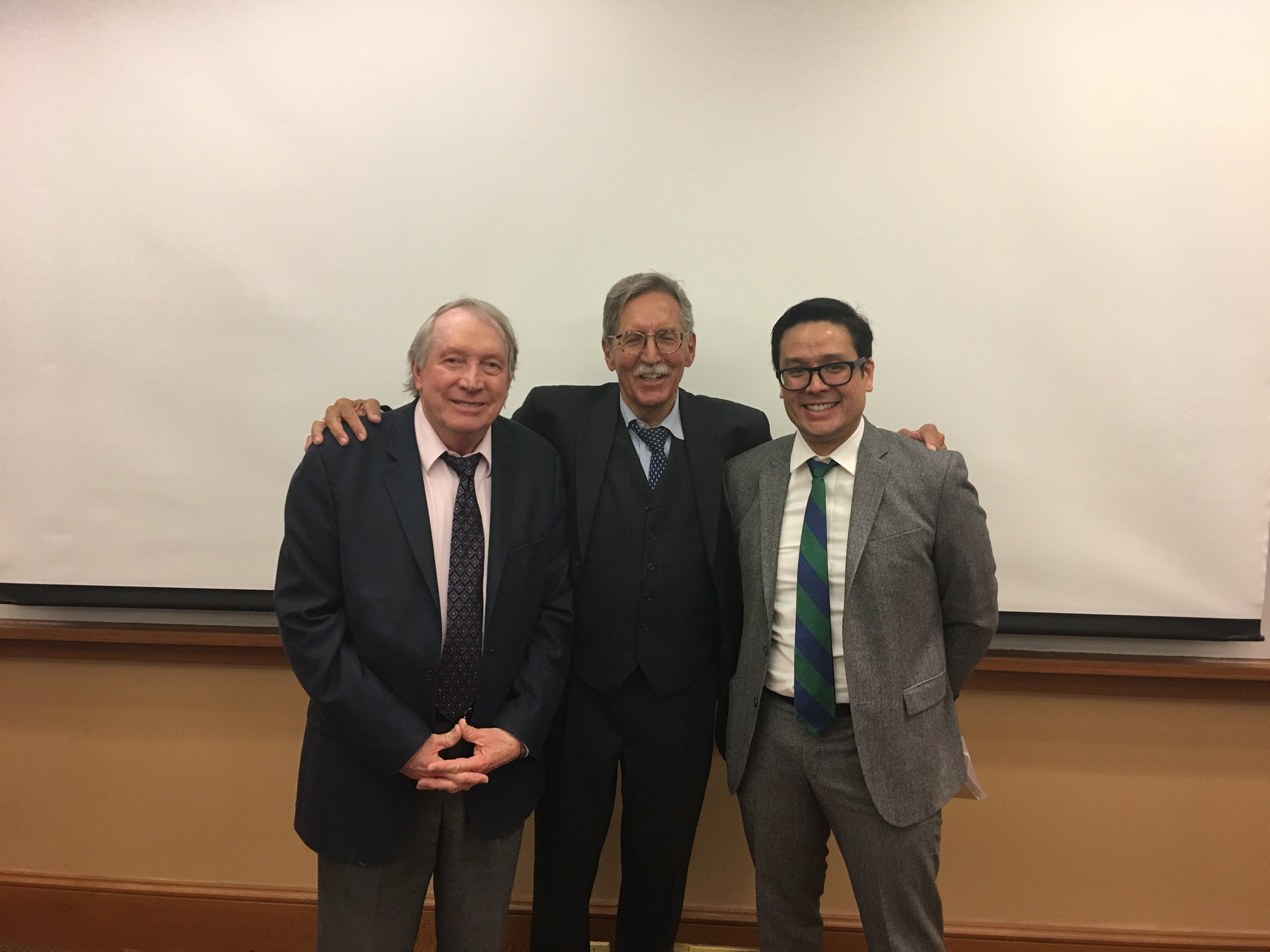 Prof. John Michalczyk, Prof. Lorenz Reibling and Prof. Glenn Mitoma at the Symposium