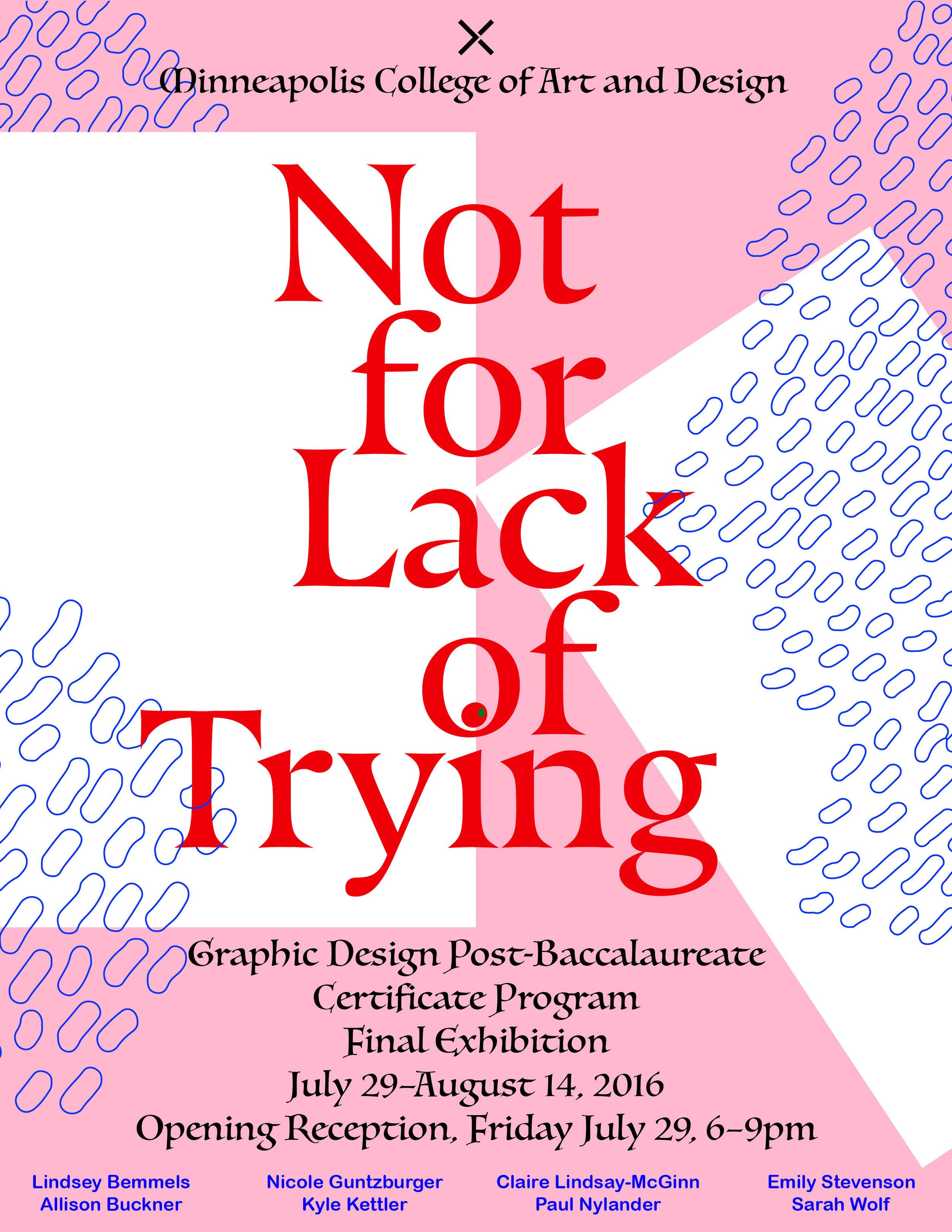 Poster design for my Minneapolis College of Art & Design graduation show.
