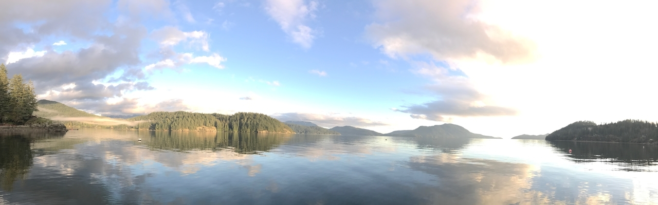 Gambier Island ~ view from the dock ~ photo by Angela