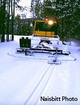 Snowcat grooming at Bohart Ranch
