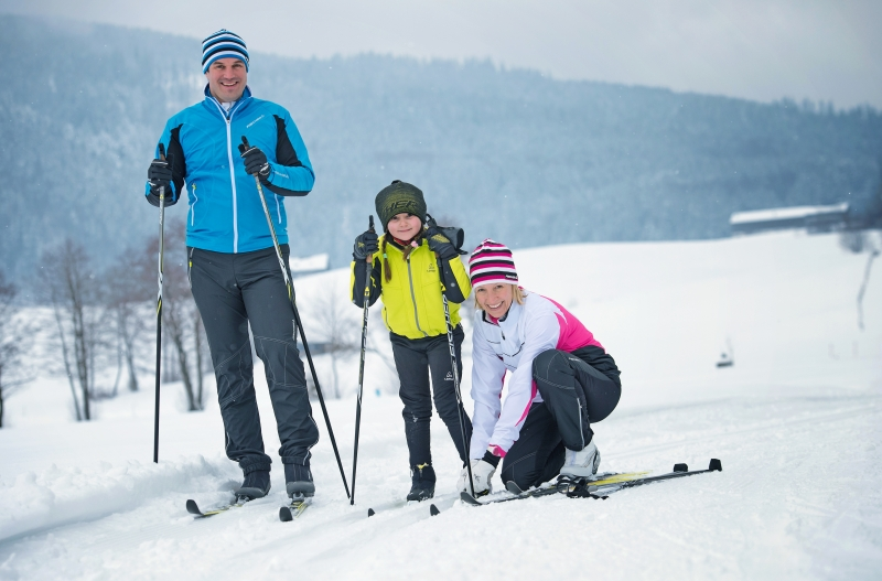 Create family memories on  a cross country ski weekend.