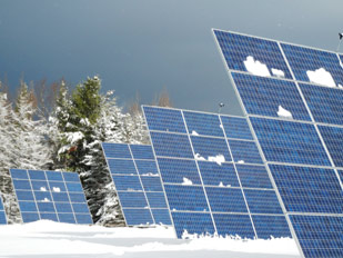 Solar panels at Craftsbury Outdoor Center