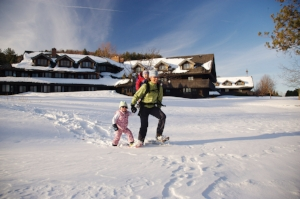 Snowshoeing at the Trapp Family Lodge