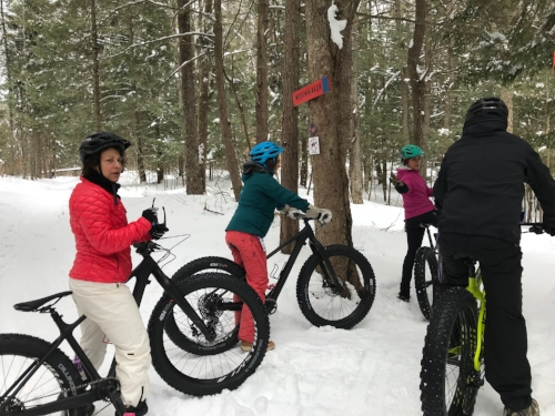 First timer fat bikers get some pointers before heading downhill