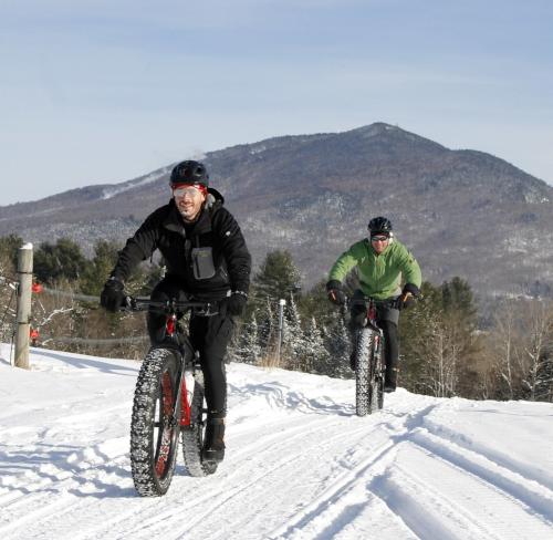 Fat biking at Kingdom Trails, Vermont
