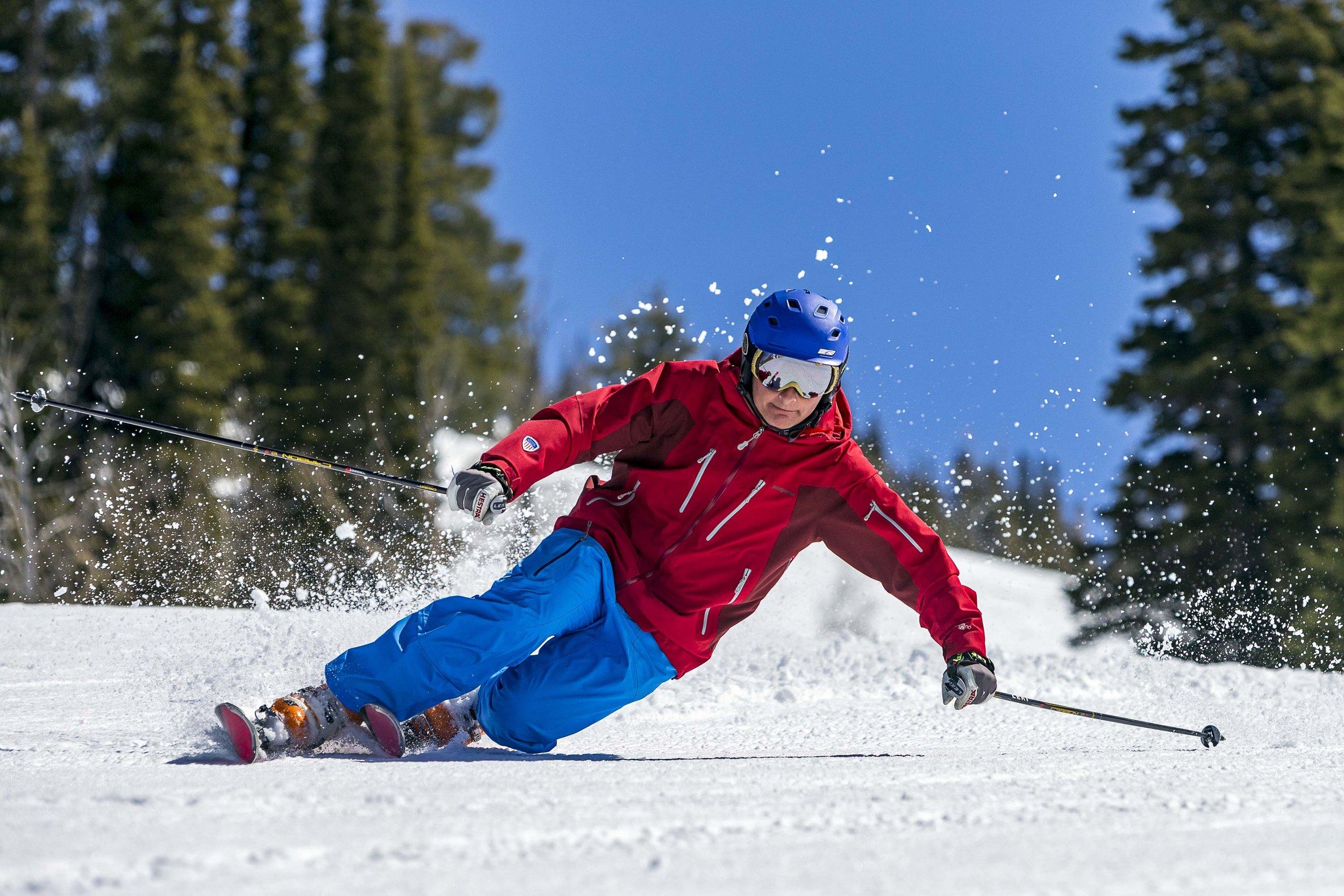 Telemark guru, Scott McGee on the slopes at Jackson Hole Resort. Jonathan Selkowitz photo