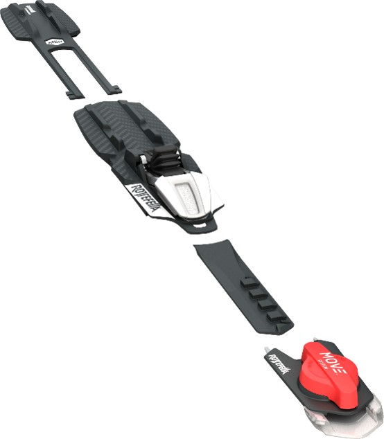 Rottefella Move binding allows easy adjustment on the trail