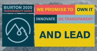 Burton sustainability pledge