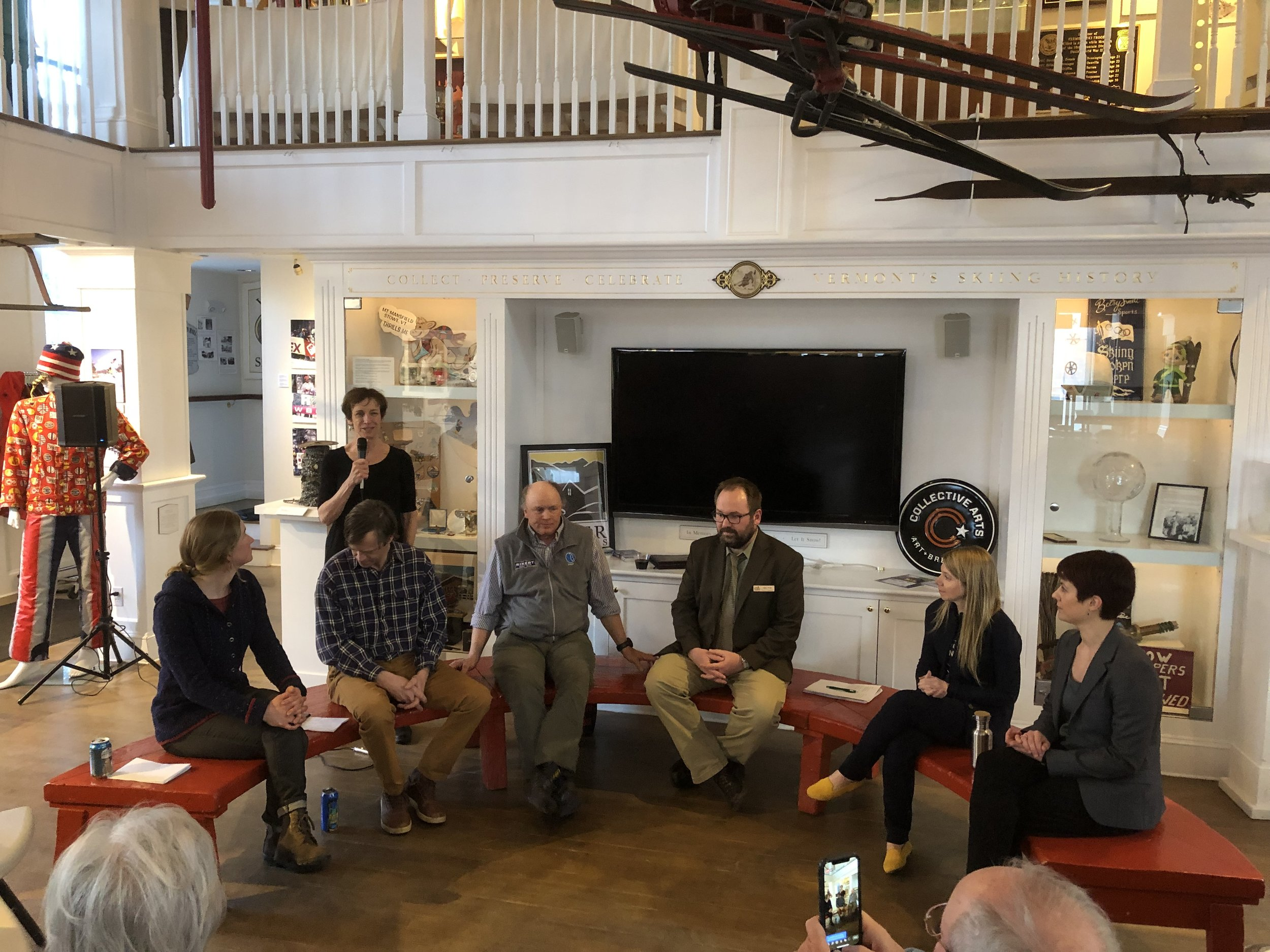 Vermont Ski & Snowboard Museum Red Bench Discussion Panelists