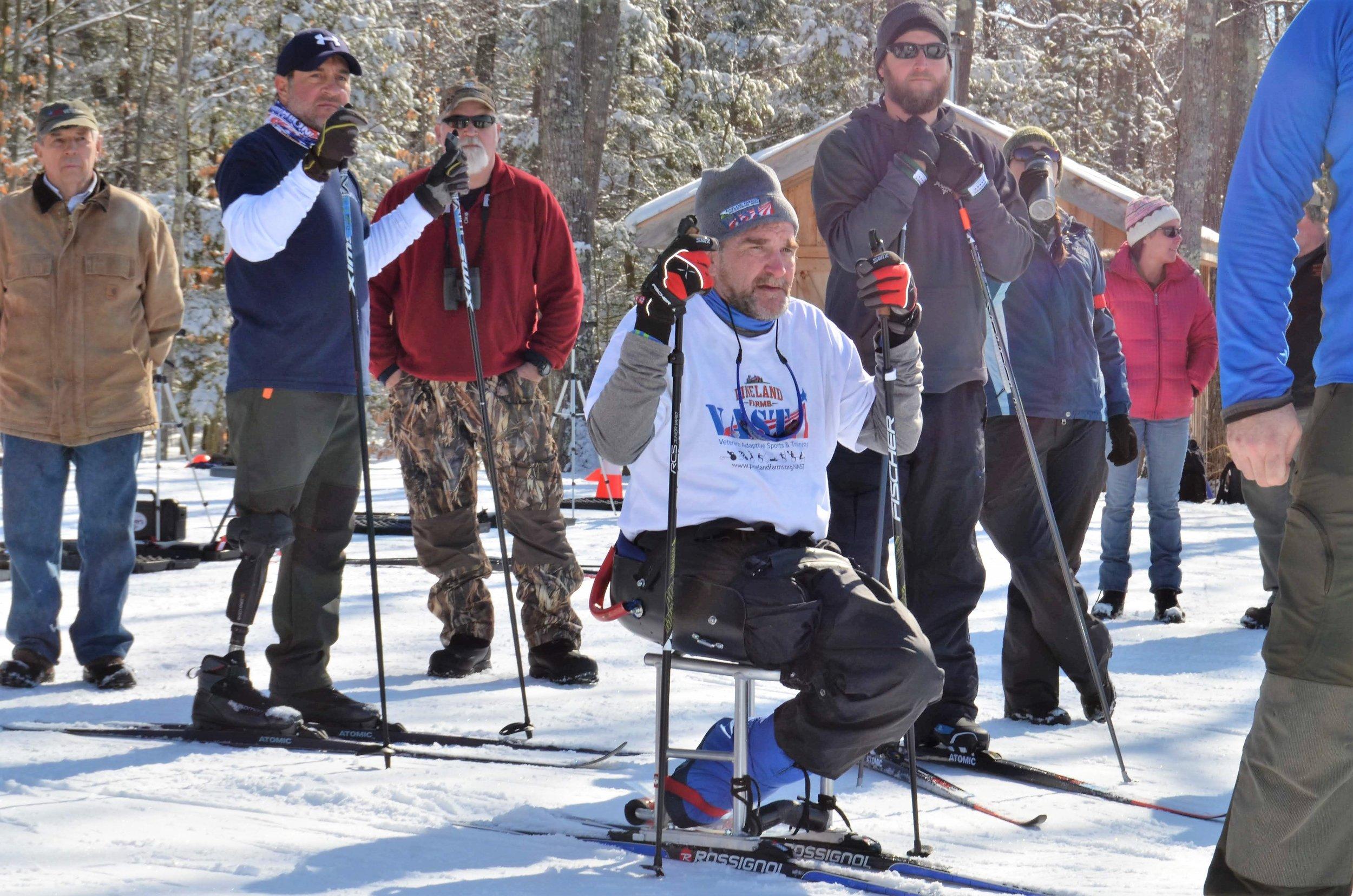 Sit ski and cross country ski camp for Veterans