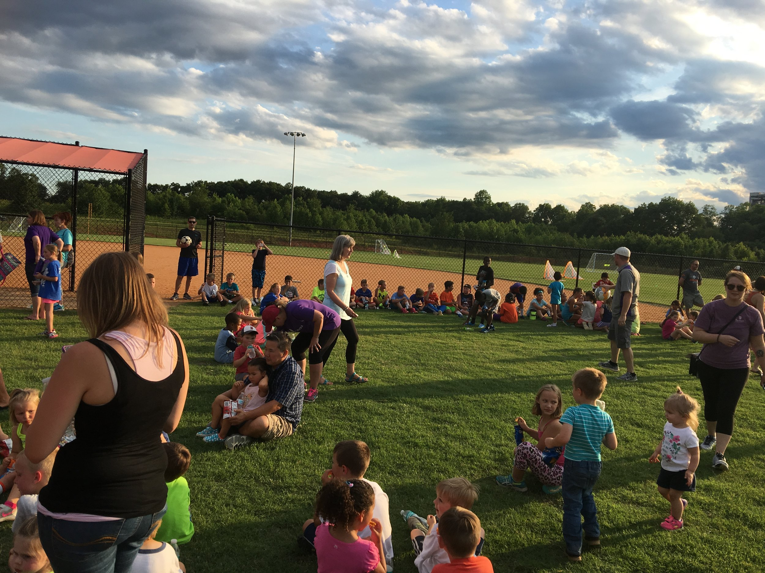 Soccer camp this past week at partner church