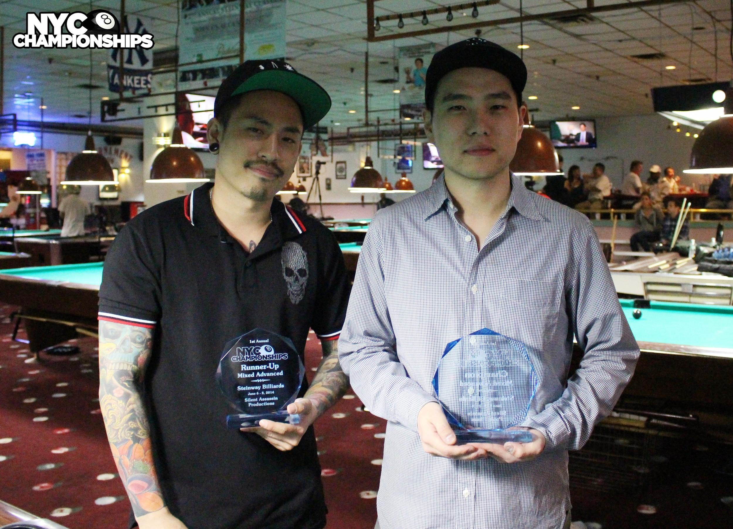 Mixed Advanced: Runner Up Chumreon Sutcharitakul & Champion Adam Kwon