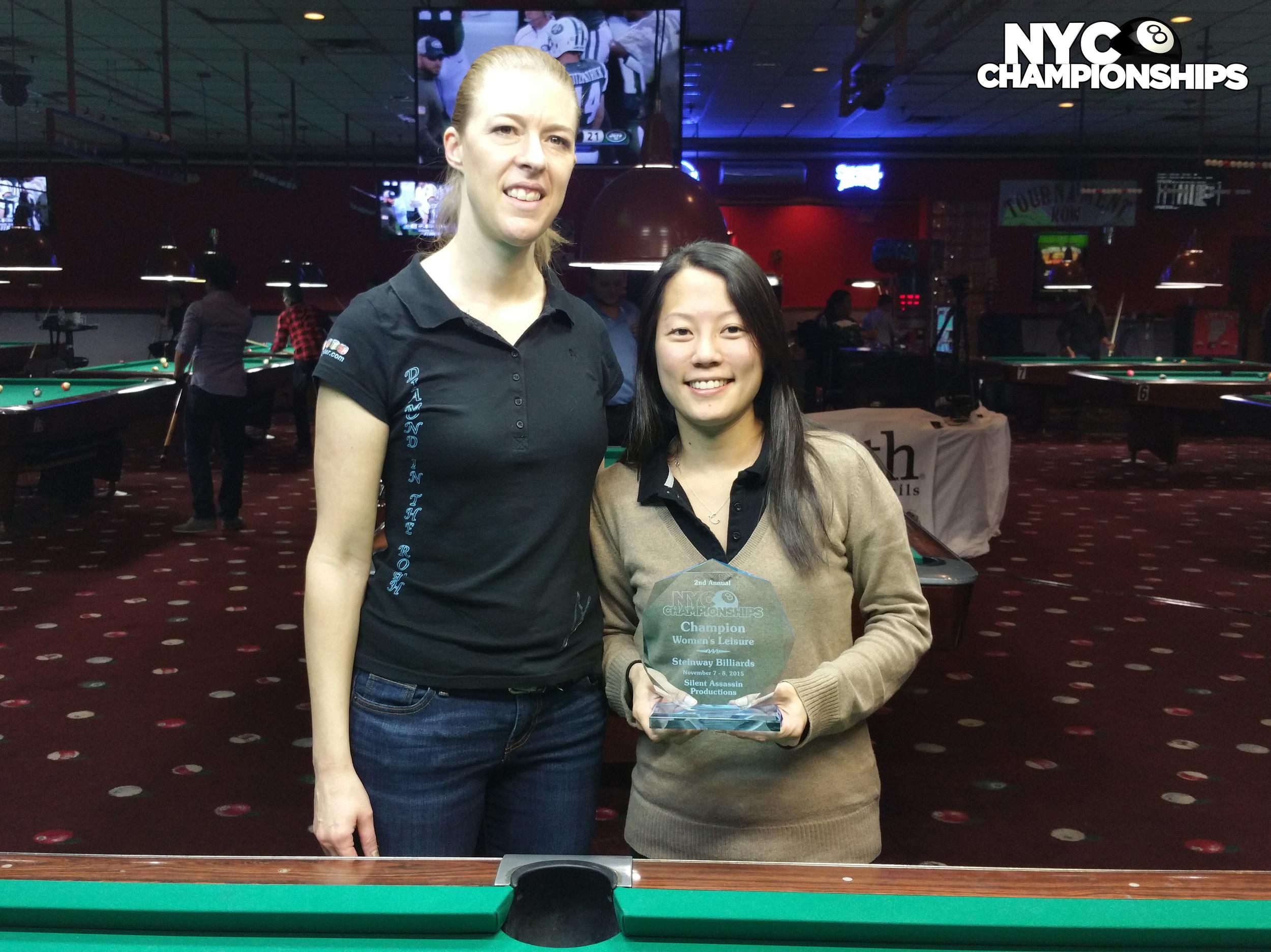 Women's Leisure: Runner Up Debra Pritchett & Champion Carolina Kwak