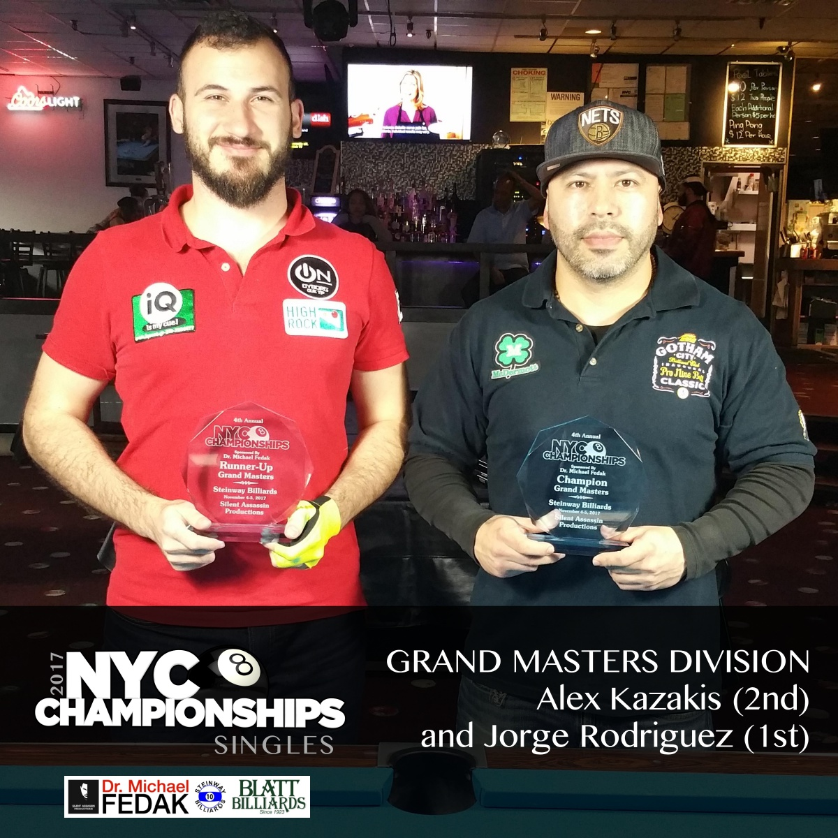 Grand Masters L-R 1st Tony Robles 2nd Jonathan Smith