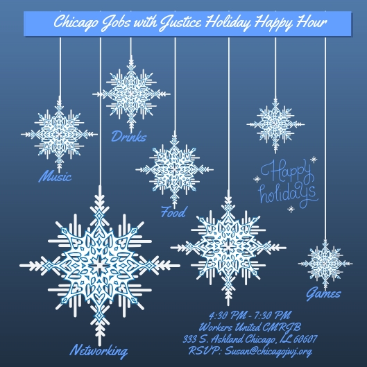 Chicago Jobs with Justice Holiday Happy Hour - Join us to celebrate the holidays and our collective accomplishments in 2018