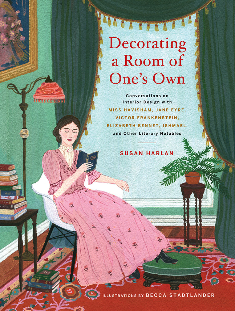 - Decorating a Room of One's Own is a wickedly funny house tour through literary classics in which beloved characters open their doors to reveal their interior design choices, inspirations, and secrets. With conversations about thirty notable dwellings, helpful sidebars, and color illustrations throughout, this is the perfect volume for readers who appreciate a good book and a good end table.