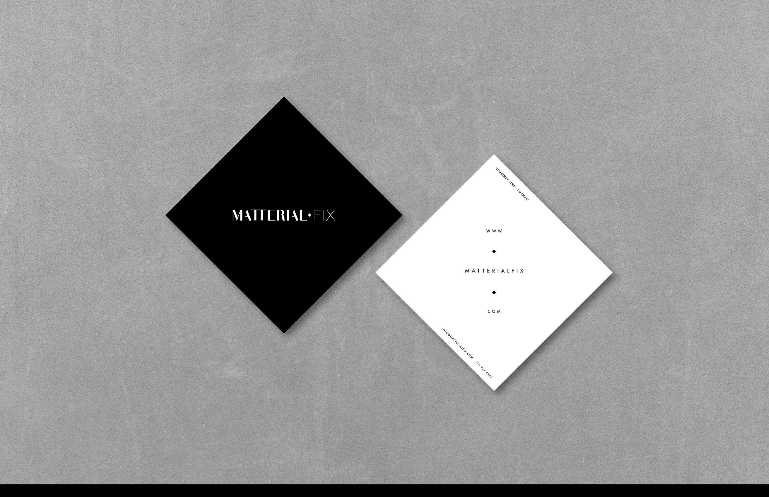 Business Card — Matterial Fix