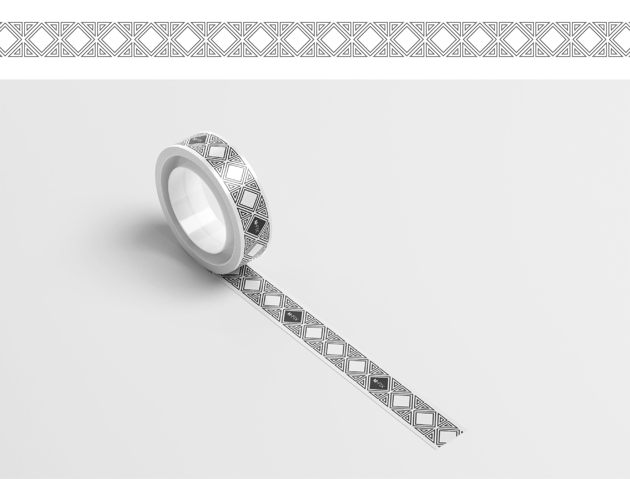Custom design tape pattern