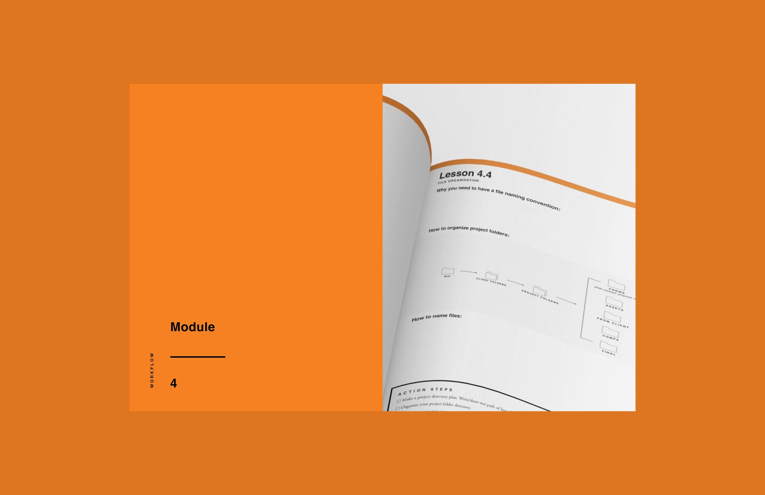 e-course workbook design 4