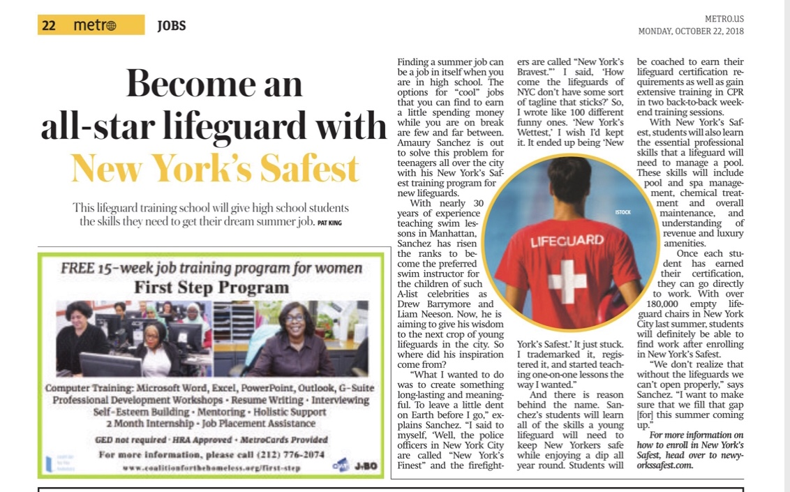 New York's Safest, helping todays youth find jobs with the right training and certification to be ready for todays work force.