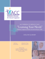 "Statewide Cultural Competence ""Learning Your Needs"" Assessment Report 2006"