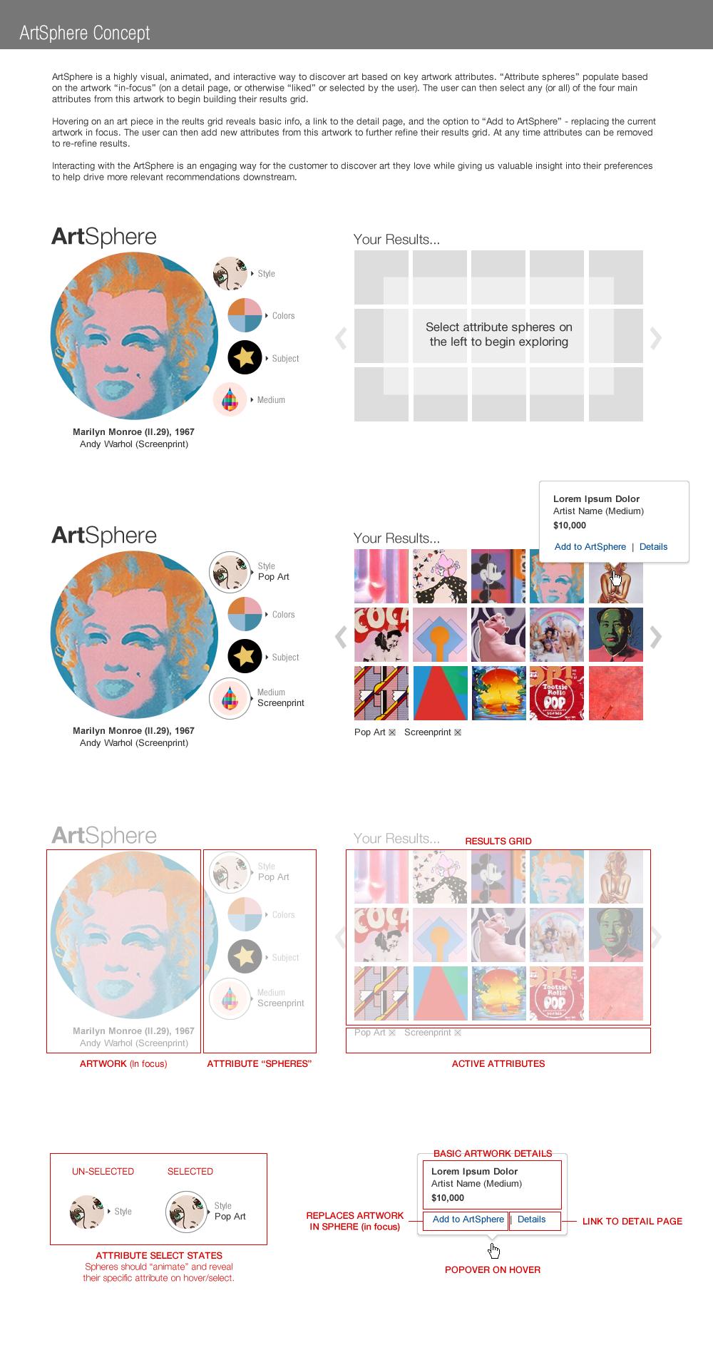 ArtSphere Visualizer Concept