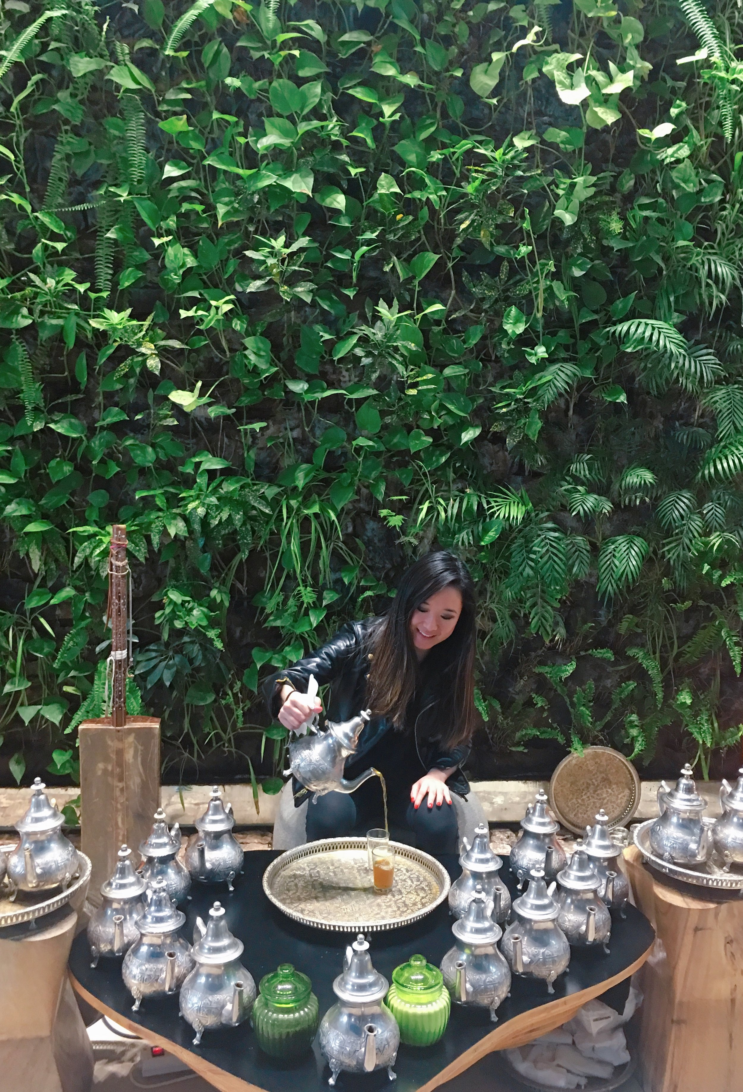 Moroccan tea ceremony