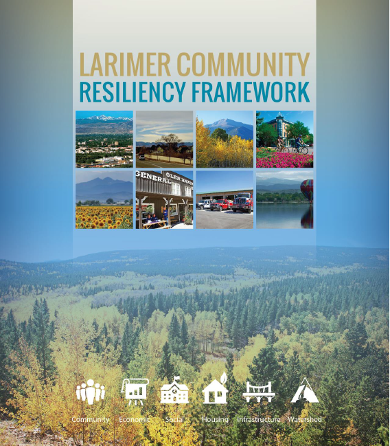 Community-level resiliency frameworks are one way of advancing resiliency concepts with a variety of stakeholders. To date, three community resiliency frameworks have been successfully completed in Colorado, essentially covering the areas of Larimer, Boulder, and El Paso Counties.