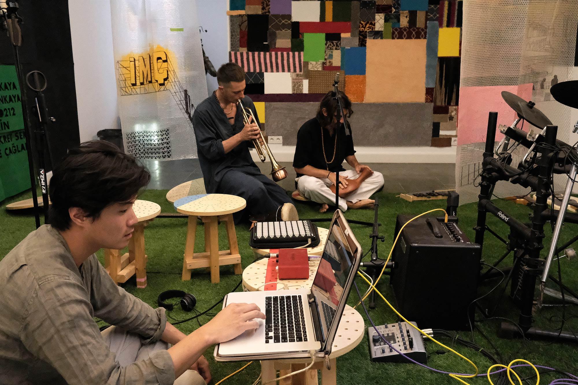 Open recording studio at IMÇ, Istanbul