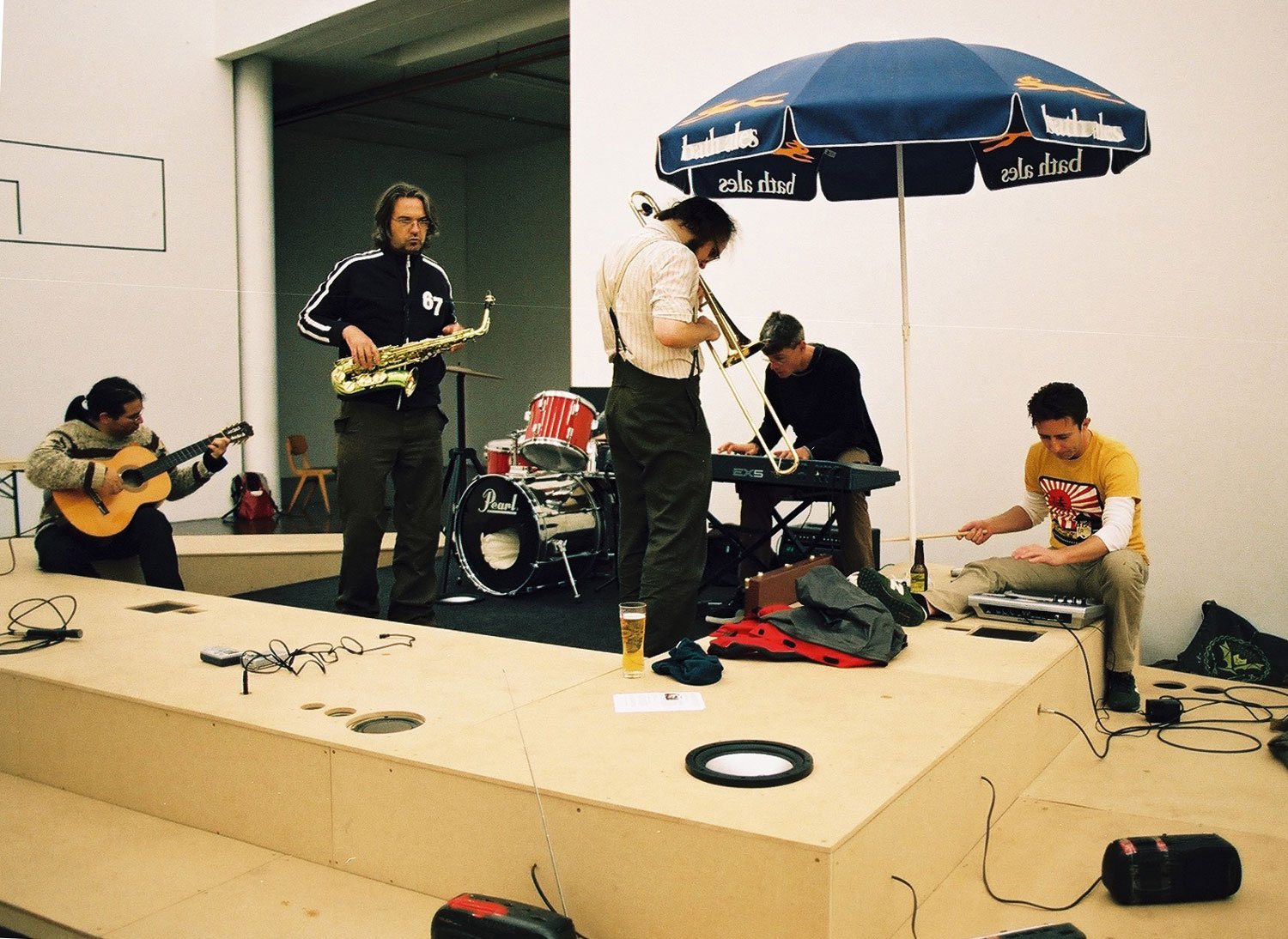 A Damaged Plane, 2007 during a performance by Cube Orchestra...