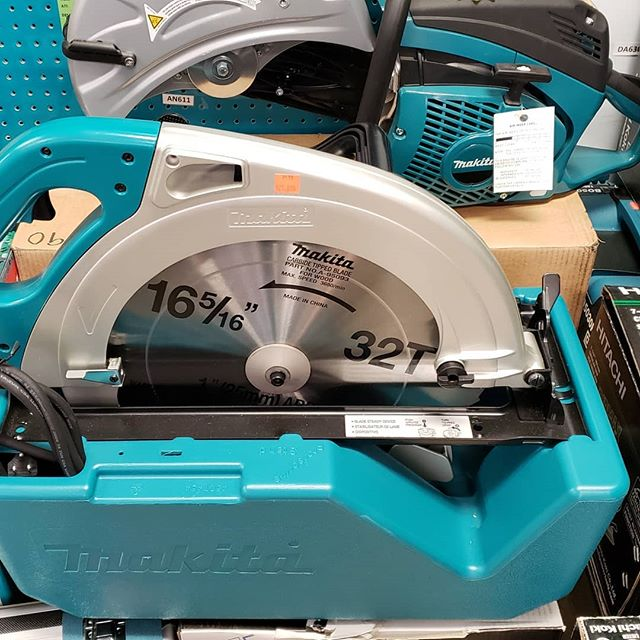 """It not a question what you need a 16"""" skill saw for, but what wouldn't you need it for. #makita #mantools #toolsofthetrade"""
