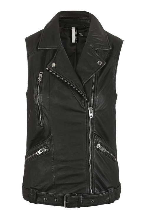 Leather vest- Topshop