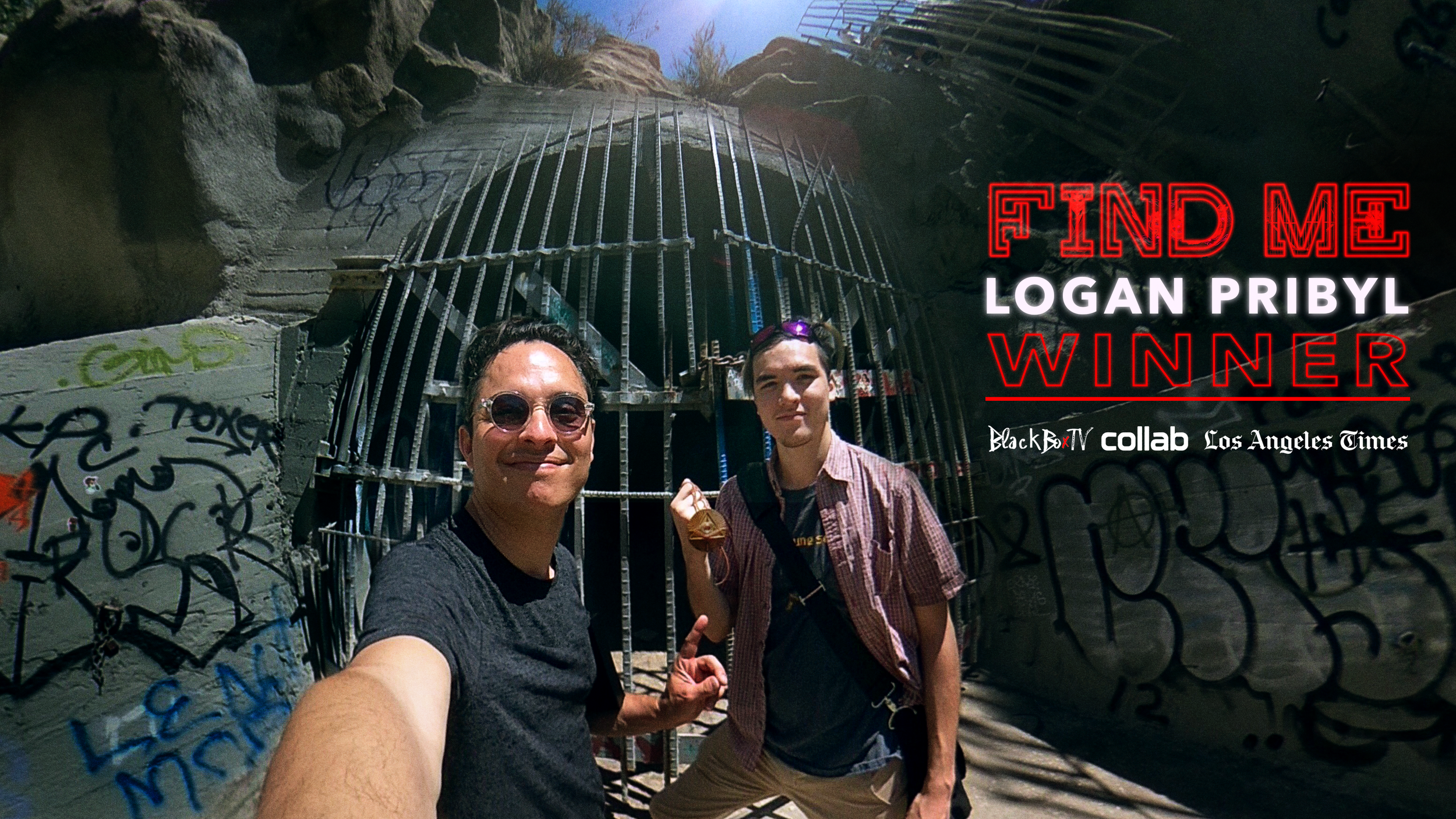 Congrats to Logan Pribyl! Winner of our 360/VR game  #FindMe . Logan was awarded his prize (a gold amulet featured in the series) at the Devil's Gate Dam where our story began. Thanks to everyone who helped bring this immersive series to life! Also, a most honorable mention to Amber Ferreira who came in a VERY CLOSE second place and to everyone who watched the series and played the game!.❤️