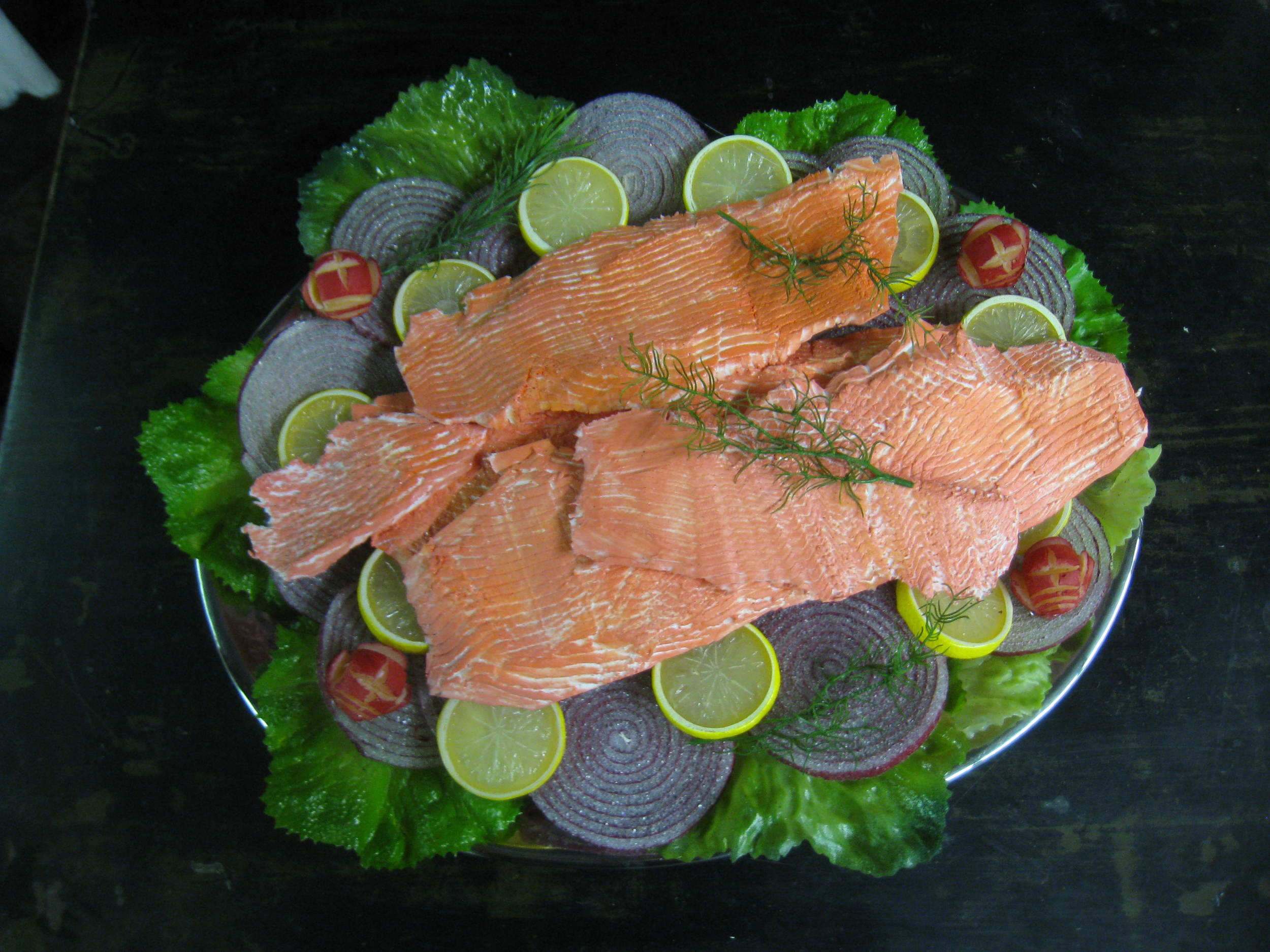 Fish in the Dark Salmon Plate
