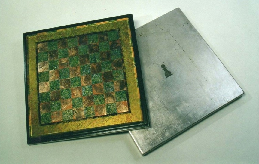 Chessboard Back Painted Glass