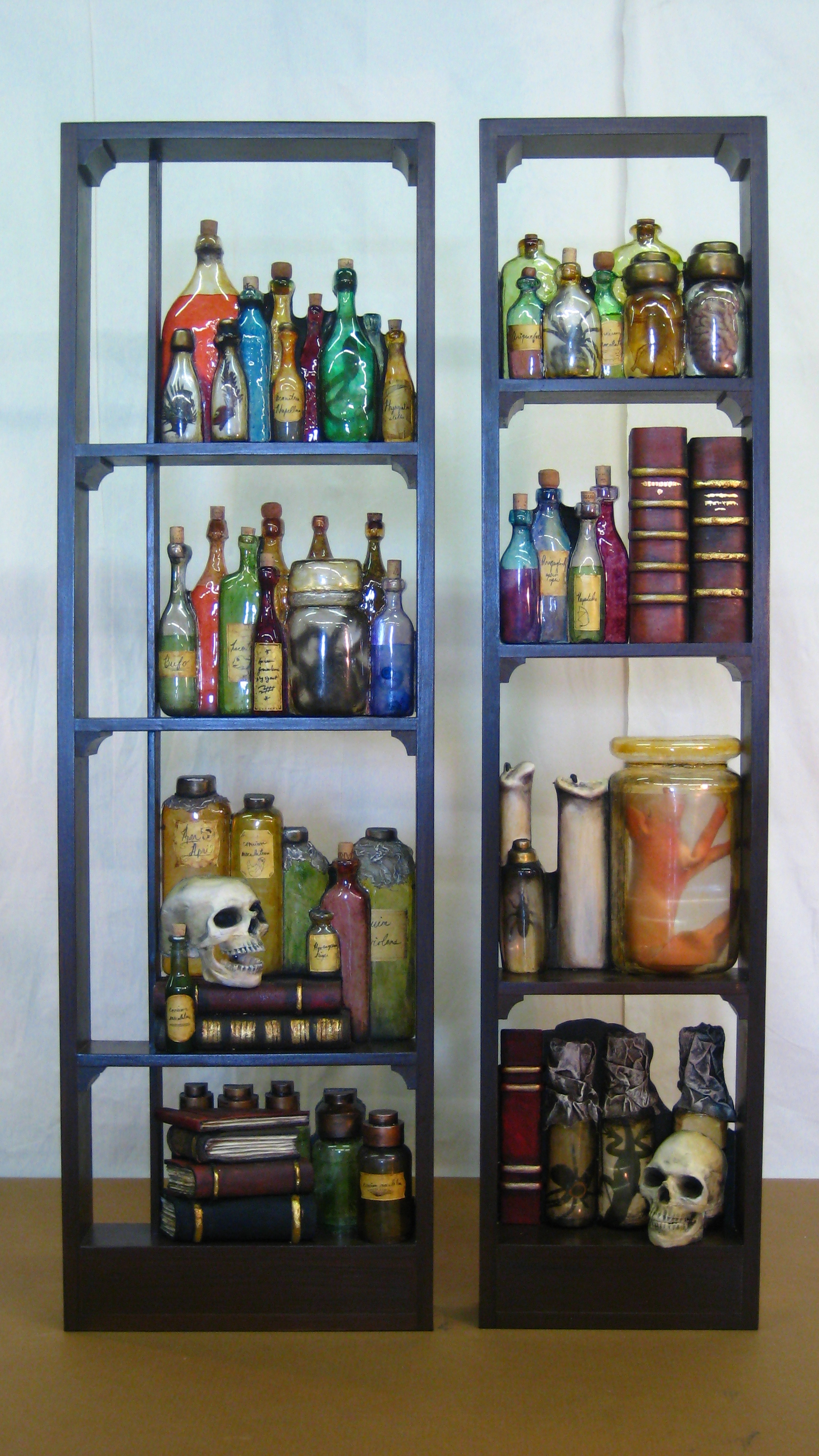 Potion Shelves: The Addams Family