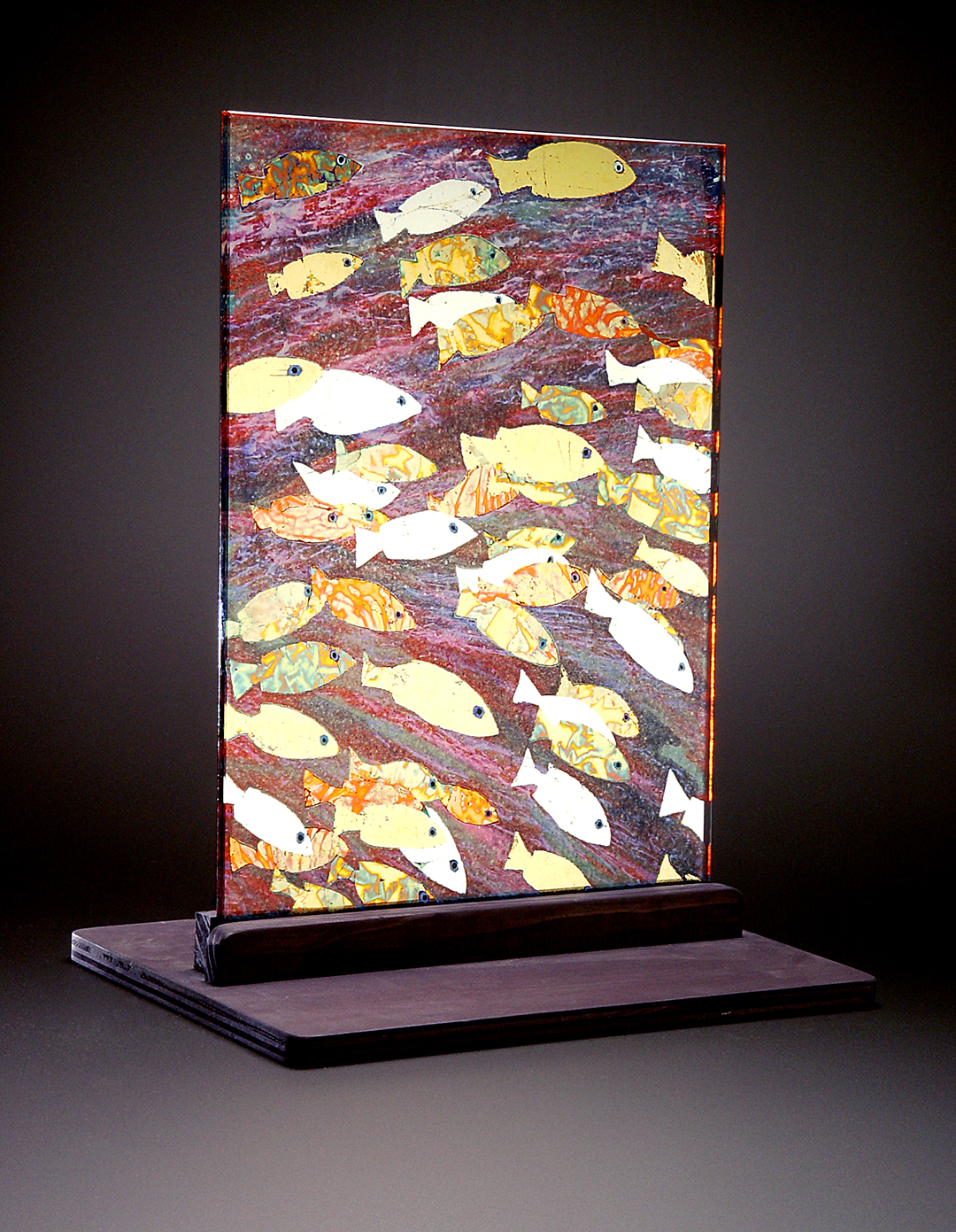 Eglomise´Fish Panel