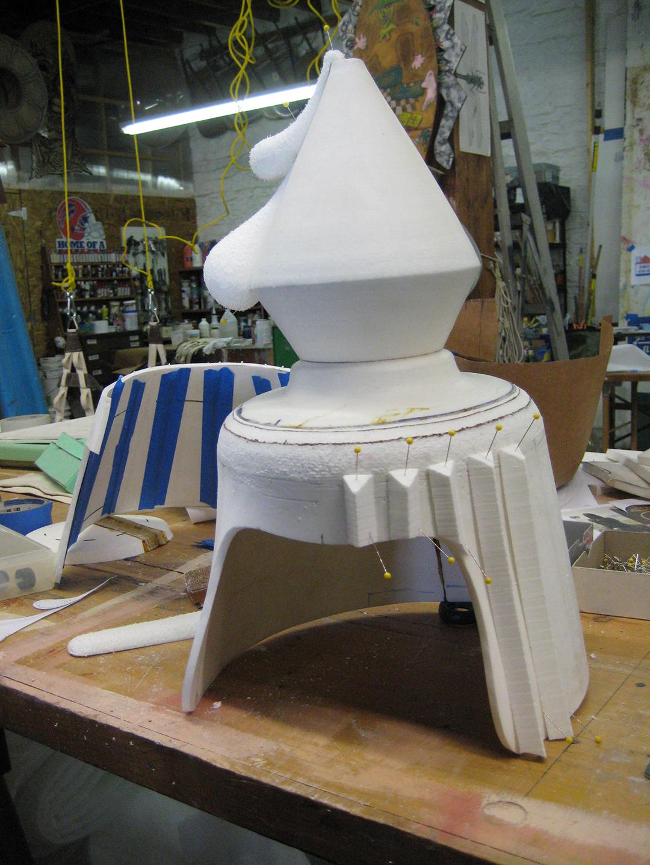 Bottle Cap Hat in Process