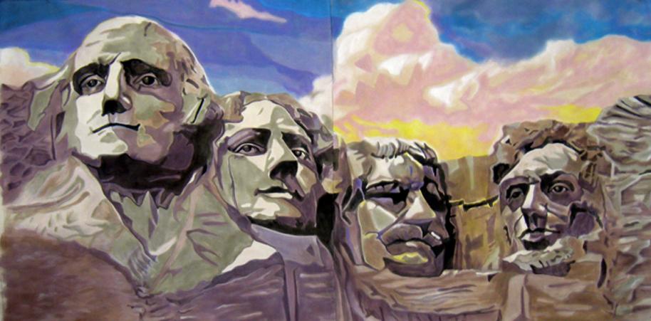 Mt. Rushmore Backdrop, Minsky's