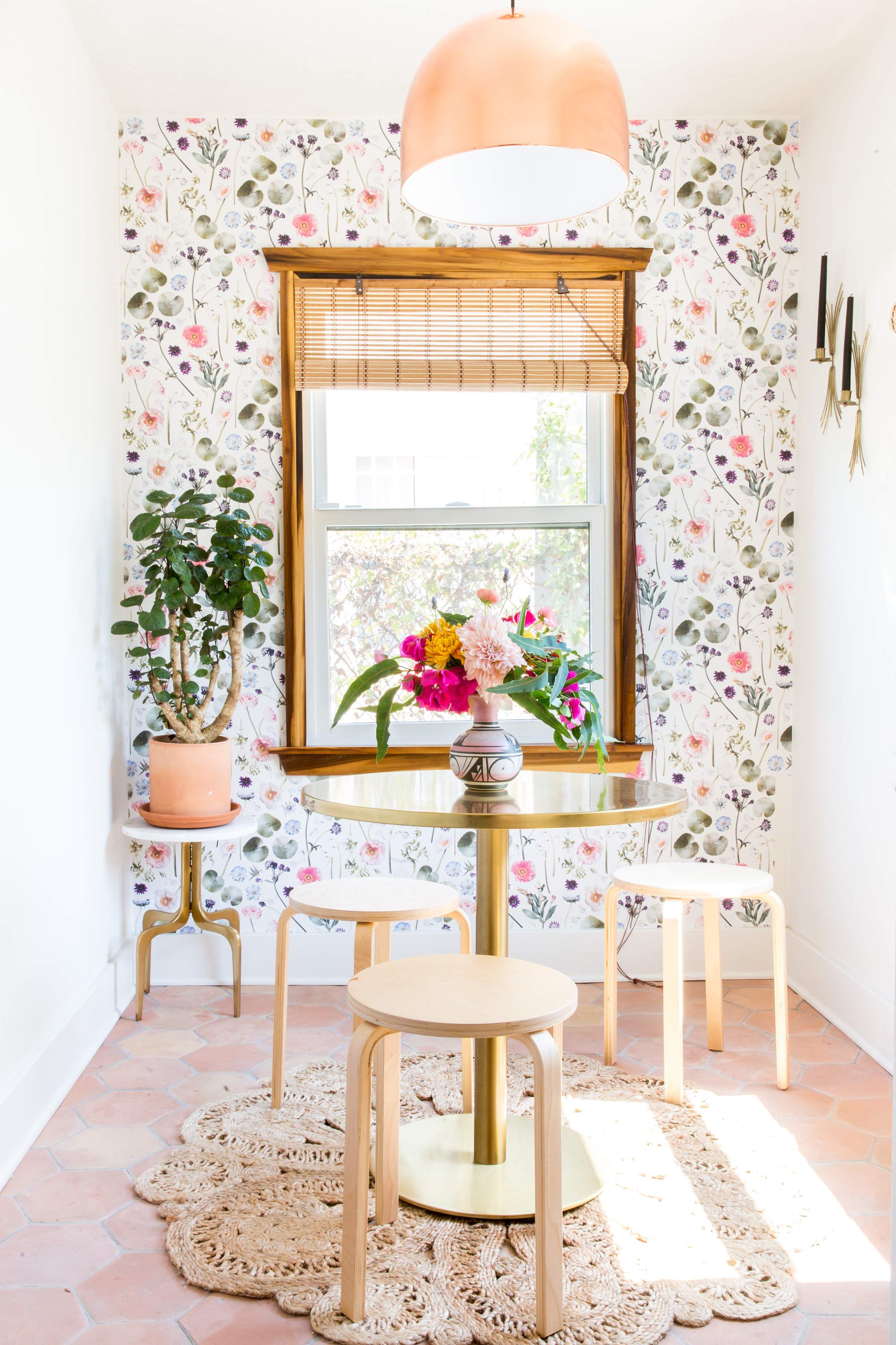 Floral Finds Removable Fabric Wallpaper Peel And Stick