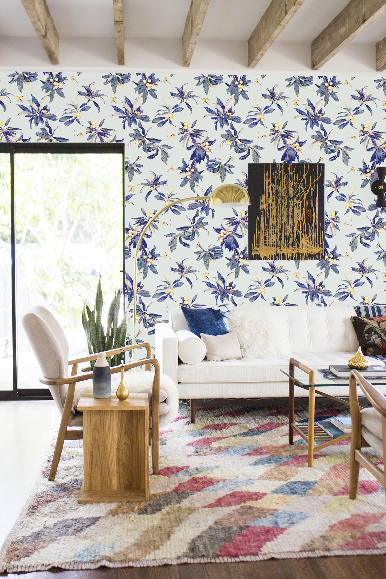 Loquat Love Removable Fabric Wallpaper
