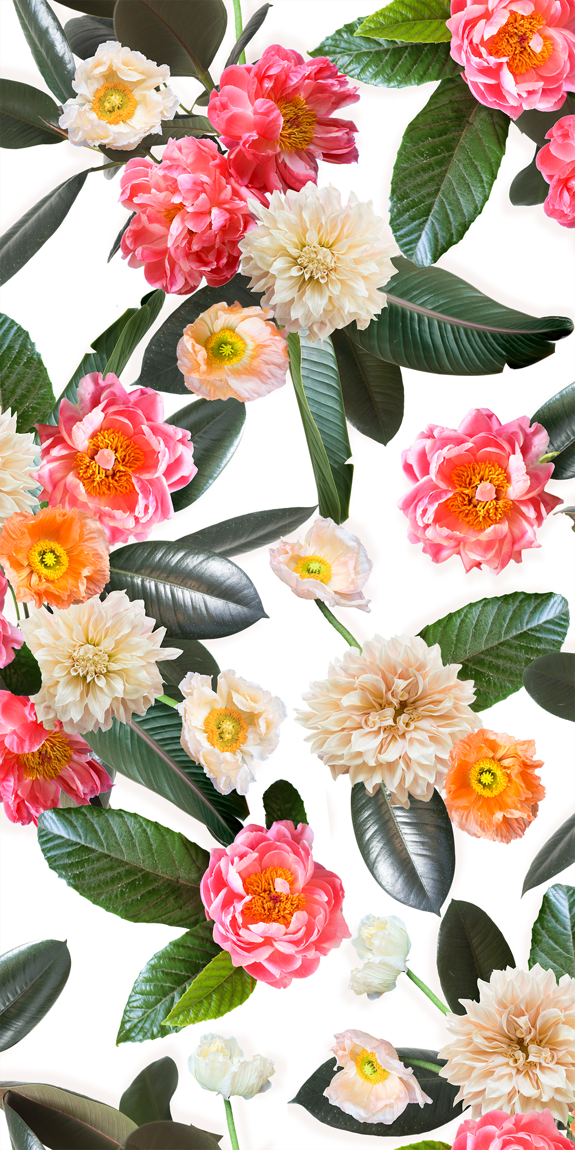Flower Party Removable Fabric Wallpaper Peel And Stick