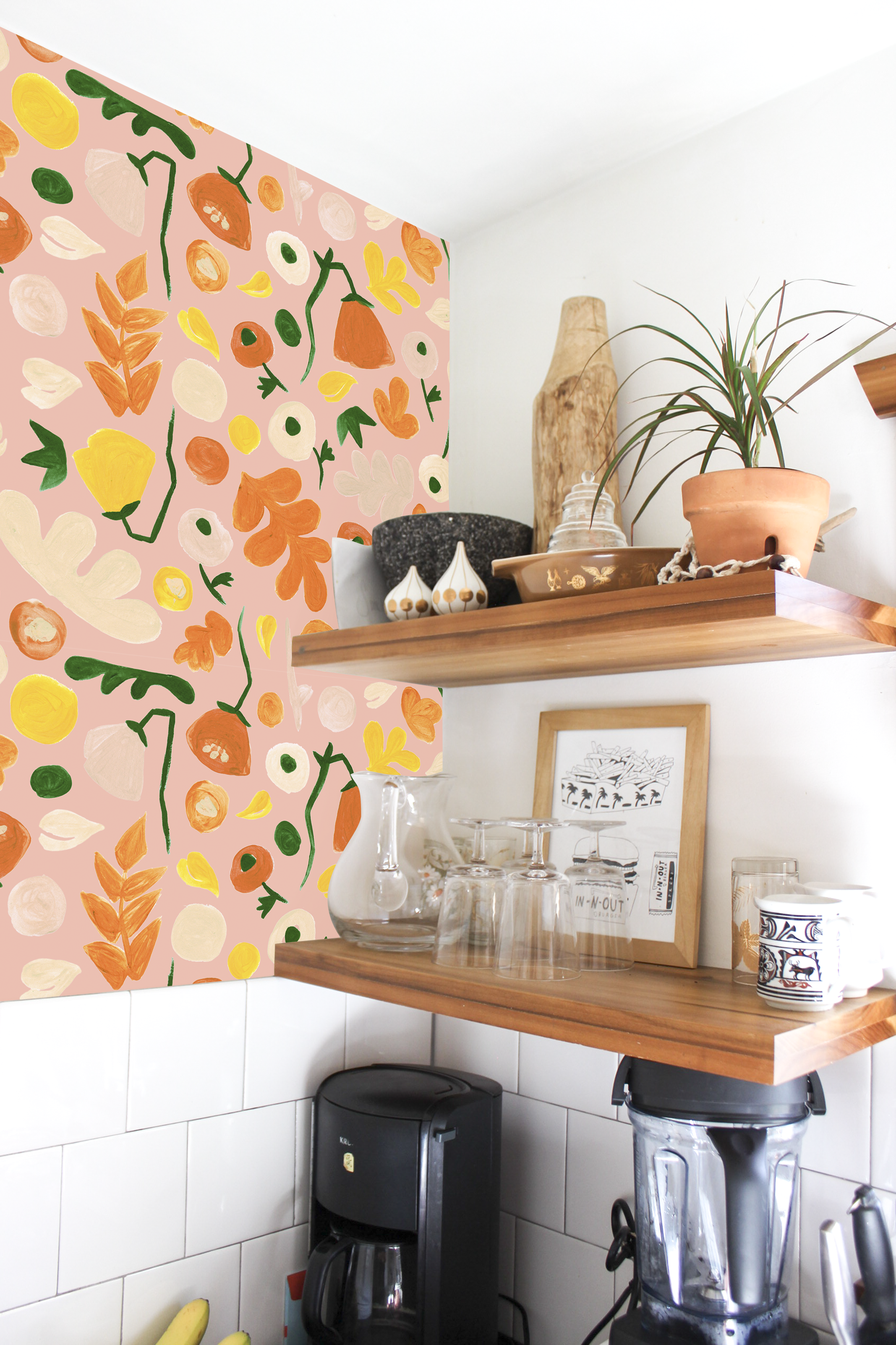 Henri Floral Removable Fabric Wallpaper Peel And Stick