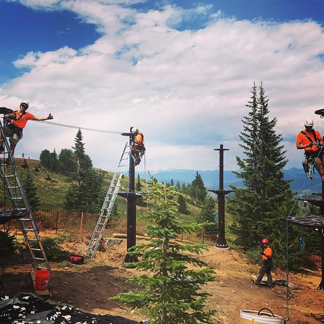 Safety orange for our crew. #workatheight #ropescourse #viewfromwork
