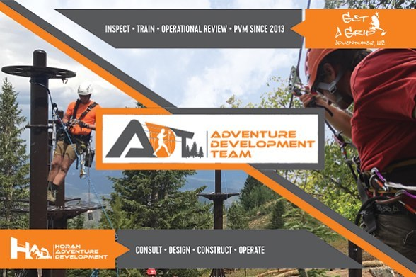 Big News: the Adventure Development Team is official. #acct2018 #zipline #ropescourse