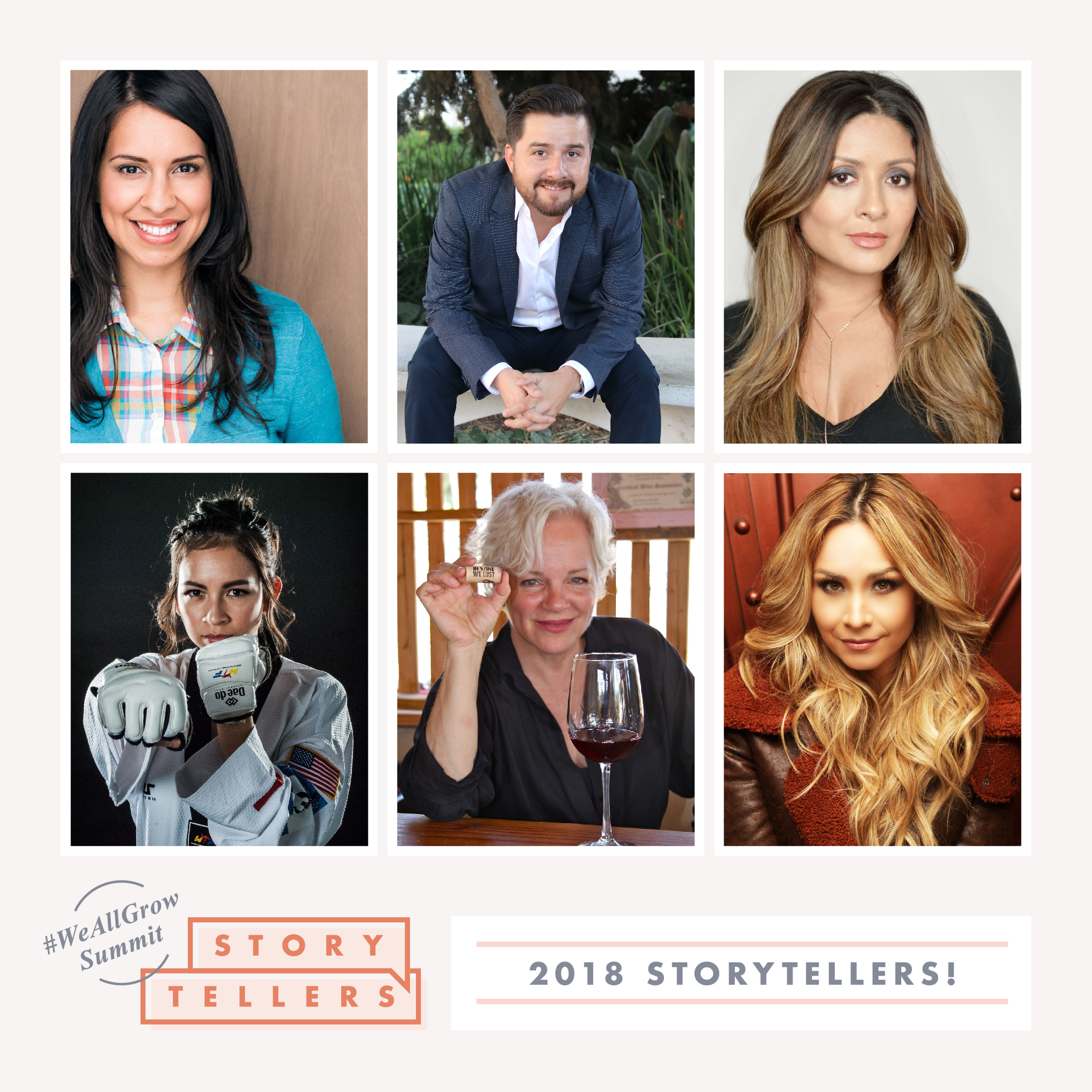 #WeAllGrow Summit 2018 Storytellers