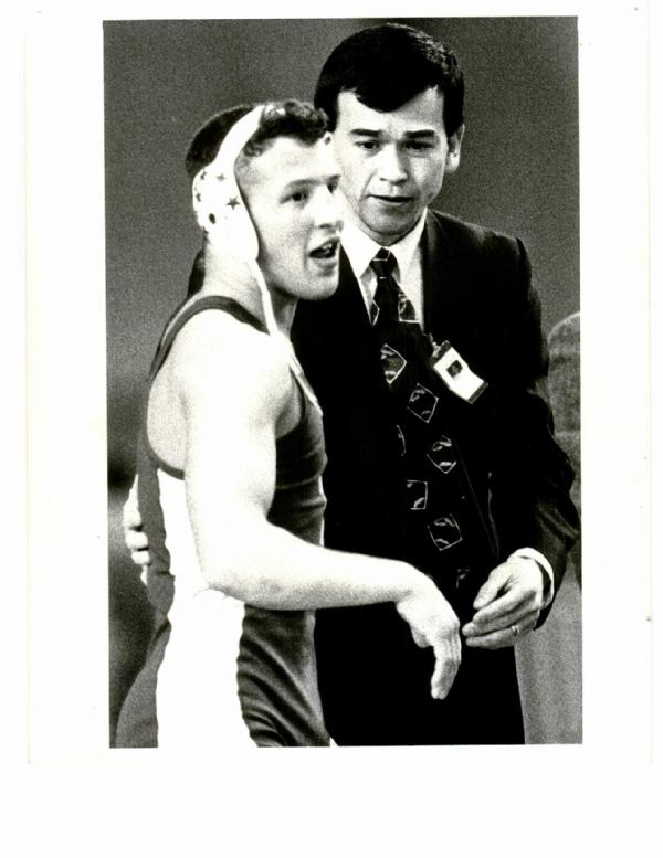 Seen here with Coach Russ Hayden, Ricky was Tahoma's first three-time state champion. He is also Tahoma's only four time state placer taking a 3rd in state his freshman year. He compiled an overall record of 119-6 while wrestling for the Bears. His first championship was 108 pounds in 1990. In 1991, Christian won the championship at 122 pounds. His third title came at 128 pounds in 1992. Ricky is currently coaching wrestling in Idaho.