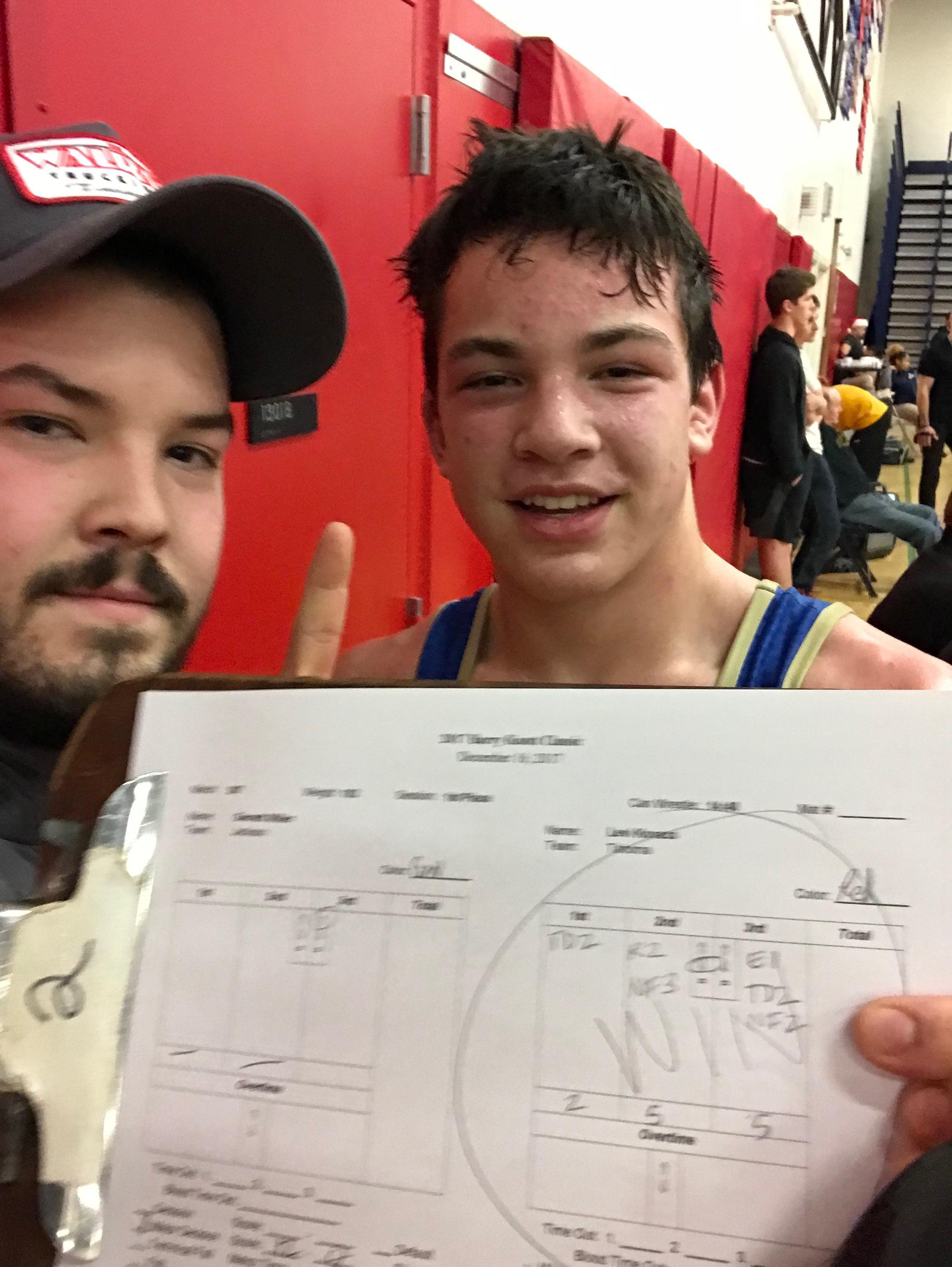 Freshman Levi Kovacs - 182 Pound Champion